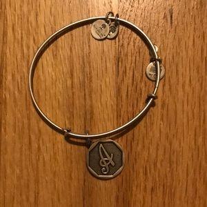 """Alex and Ani """"A"""" bracelet silver"""